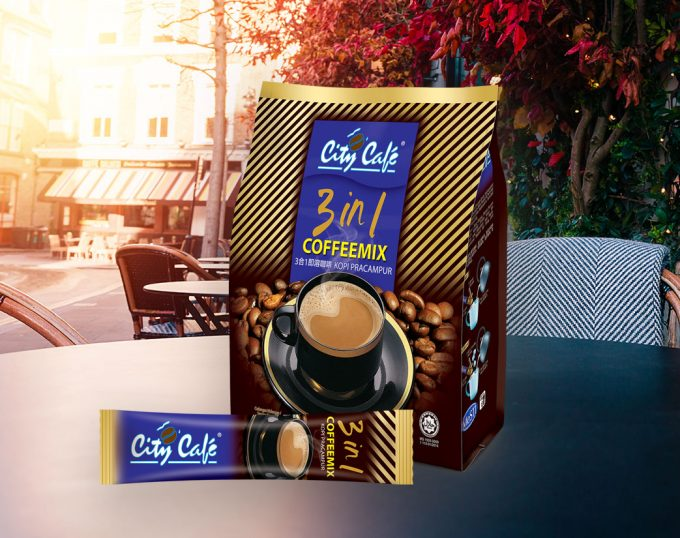 3 in 1 Instant Coffee Product display